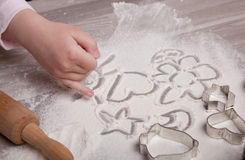Making Christmas Cookies Stock Image