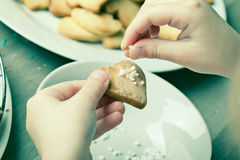 Making Christmas Cookies Royalty Free Stock Images