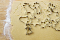 Making christmas cookies Stock Photography
