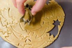 Making Christmas cookies. Star shape Stock Photo
