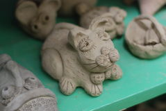 Making clay animal Stock Images