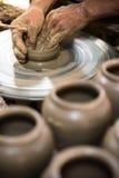 Making clay pot Royalty Free Stock Photos