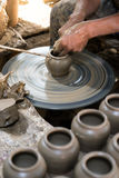 Making clay pot Royalty Free Stock Photo