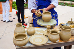 Making Clay Pot Royalty Free Stock Photography