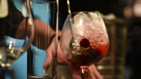 Making cocktail in bar stock footage