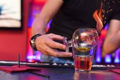 Making cocktail Stock Image