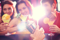 Making cocktail in club Stock Photo