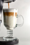 Making Coffee latte Royalty Free Stock Photography