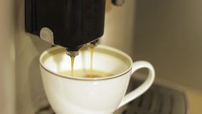 Making coffee. stock footage