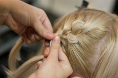 Making coiffure Royalty Free Stock Image