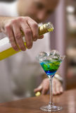 Making colorful drink Royalty Free Stock Photo
