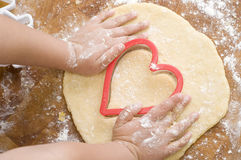 Making cookies Royalty Free Stock Image