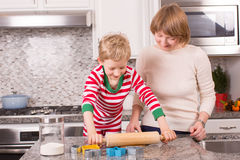 Making cookies at christmas time Stock Image