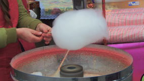 Making of Cotton Candy stock video