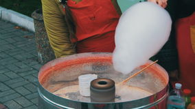 Making of Cotton Candy stock footage