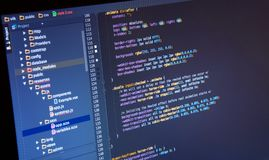 Making Css3 code in IDE stock photo