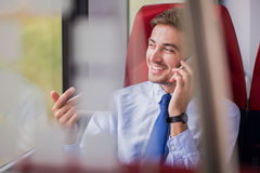 Making deal by phone call Royalty Free Stock Image