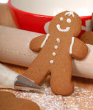 Making delicious gingerbread men Stock Photo