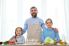 Making Delicious Surprise for Mom royalty free stock photography