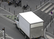 Making a delivery in Paris Stock Photo