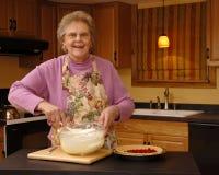 Making Dessert Topping royalty free stock photos