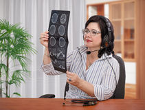 Making diagnosis headaches remotely Royalty Free Stock Photography