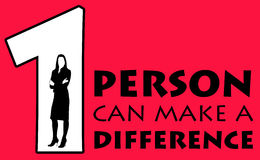 Making a difference. In life and career Royalty Free Stock Images