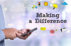 Making a Difference Royalty Free Stock Images