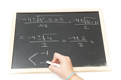 Making difficult equations Royalty Free Stock Image