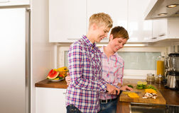 Making dinner Stock Photography
