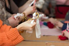 Making doll Vesnyanka Stock Photography