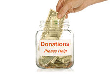Making A Donation Royalty Free Stock Photos