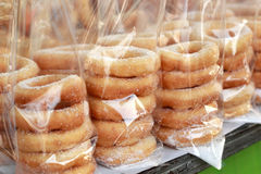 Making donuts placed in a row. Making donuts placed in a row Royalty Free Stock Images