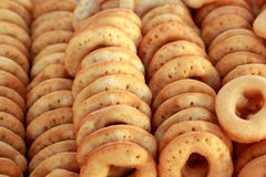 Making donuts placed in a row. Making donuts placed in a row Stock Photography