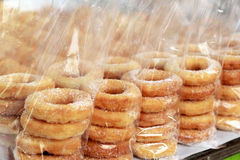 Making donuts placed in a row. Making donuts placed in a row Royalty Free Stock Photo
