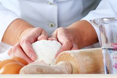Making dough Royalty Free Stock Images