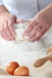 Making dough Stock Photography