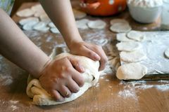Making dough Royalty Free Stock Image