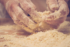 Making Dough Royalty Free Stock Photo