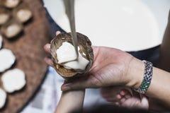 Making Dough Dessert Royalty Free Stock Images