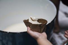 Making Dough Dessert Stock Images