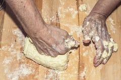 Making dough Royalty Free Stock Photos