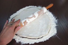 Making dough for the pie Royalty Free Stock Photography