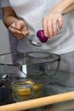 Making dough. Series. Stock Photos