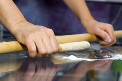 Making dough. Series. Royalty Free Stock Photography