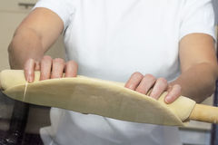 Making dough. Series. Stock Photo