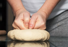 Making dough. Series. Stock Image