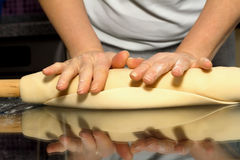 Making dough. Series. Royalty Free Stock Images