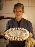 Making dumplings Royalty Free Stock Photos