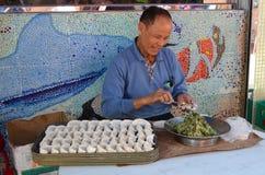 Making Dumplings Stock Photography